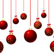 Hanging baubles — Stock Photo