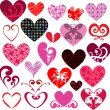 Stock Photo: Decorative hearts