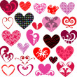 Decorative hearts - Foto de Stock