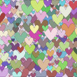 Background of hearts - Photo