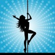 Pole dancer — Foto Stock