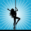 Foto de Stock  : Pole dancer