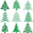 Royalty-Free Stock Photo: Scribble christmas trees