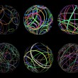 Scribble spheres - Stock Photo
