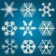 Snowflake designs — Stock Photo