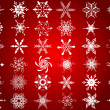 Stock Photo: Snowflake designs
