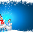 Stock Photo: Snowmen with christmas gifts