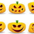 Spooky pumpkins — Stock Photo