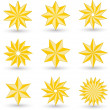Gold star icons — Stock Photo