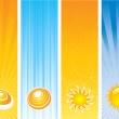 Summer banners — Stock Photo