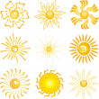 Sun icons — Stock Photo