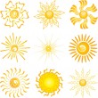 Stock Photo: Sun icons