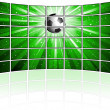 Tv screens with football image — Stock Photo