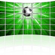 Stock Photo: Tv screens with football image