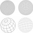 Wireframe globes — Stock Photo