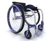 Wheelchair isolated on white — Stock Photo