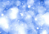 Glittery blue Christmas background — Stock Photo