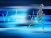 Running skeleton — Stock Photo