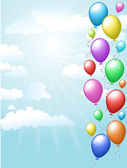 Balloons floating in the sky — Stock Photo