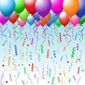Sfondo festa con palloncini — Foto Stock