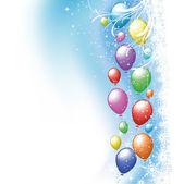 Christmas balloons — Stock Photo