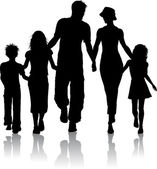 Family silhouette — Stock Photo