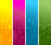 Floral panels — Stock Photo