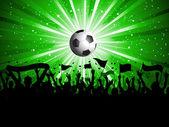 Piłka nożna tłum — Zdjęcie stockowe