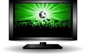 Futbol kalabalık lcd televizyon — Stok fotoğraf