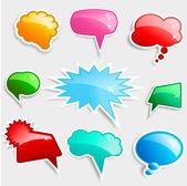 Glossy speech bubbles — Stock Photo