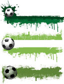 Grunge football banners — Stock Photo
