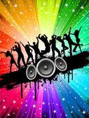 Grunge partij achtergrond — Stockfoto