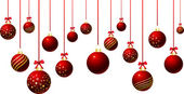 Hanging baubles — Stockfoto