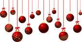 Opknoping van de kerstballen — Stockfoto