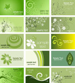 Nature themed business cards — 图库照片