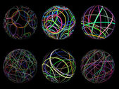 Scribble spheres — Stock Photo