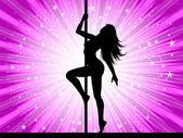 Ballerina sexy pole — Foto Stock