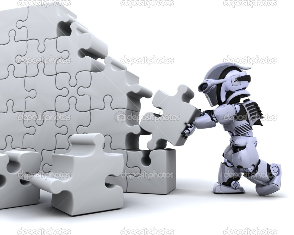 depositphotos 5040818 Robot solving jigsaw puzzle free nude soccer moms. Soccer Moms Working Stiffs Golfing Grandparents