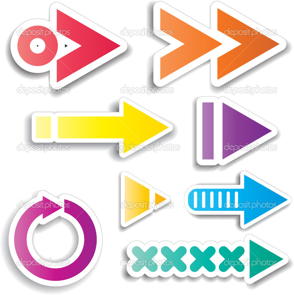 Collection of various different arrow designs — Stock Photo #5045198