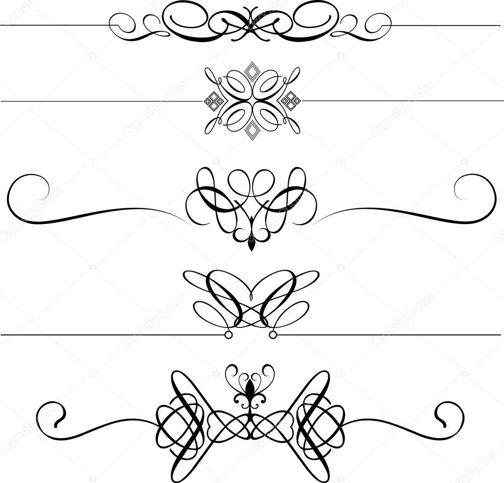 Collection of decorative page dividers  Stock Photo #5046327