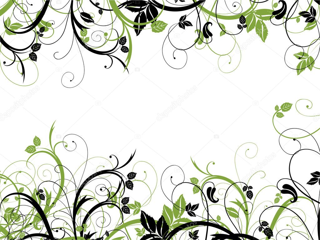 Chaotic abstract floral design on a white background — Stock Photo #5046733