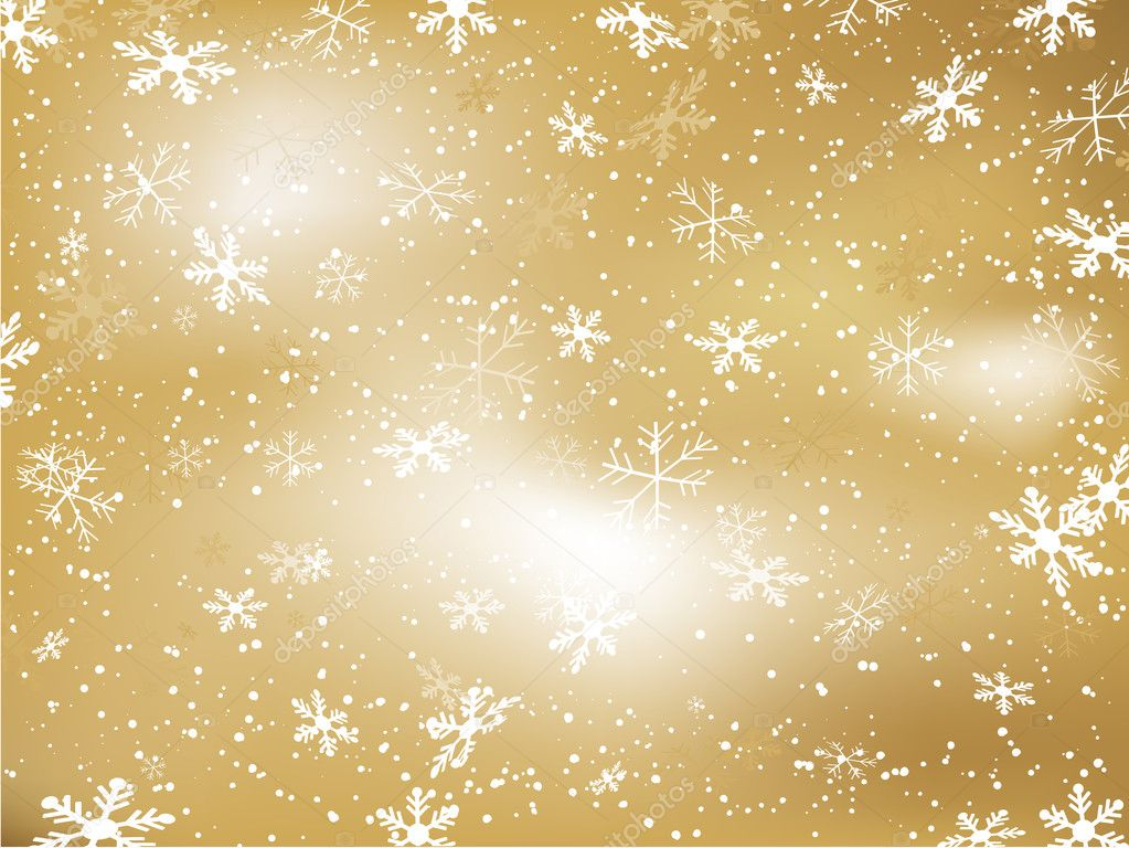 gold christmas snowflake wallpaper - photo #45