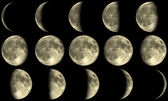 Full Moon Phases - yellow — Stok fotoğraf