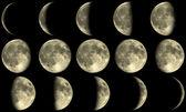 Full Moon Phases - yellow — Stock Photo