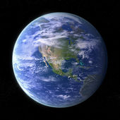 Planet Earth - black — Stock Photo