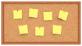 Corkboard with Post It's — Stock Photo