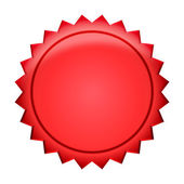 Button Badge - red — Stock Photo