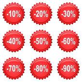 Rabatt knappar — Stockfoto