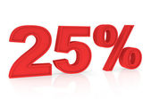 Discount 25% — Stock Photo