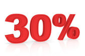 Discount 30% — Stock fotografie